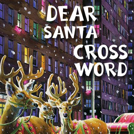 Dear Santa Cross Word 438×438